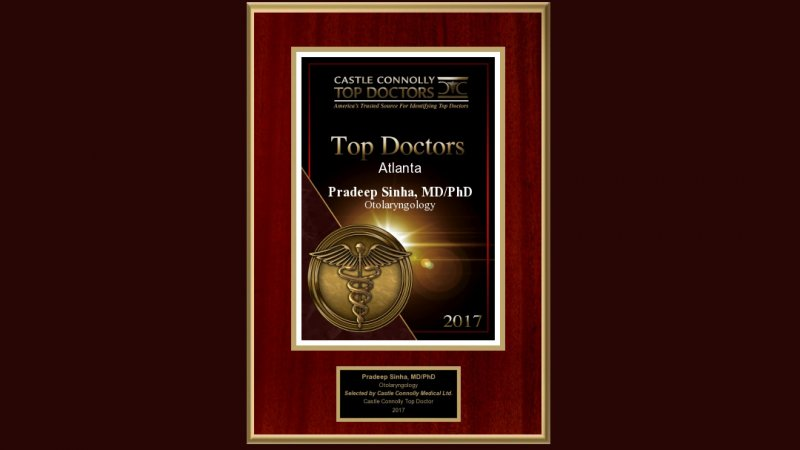 Dr. Sinha Recognized as 2020 Castle Connolly Top Doctor image
