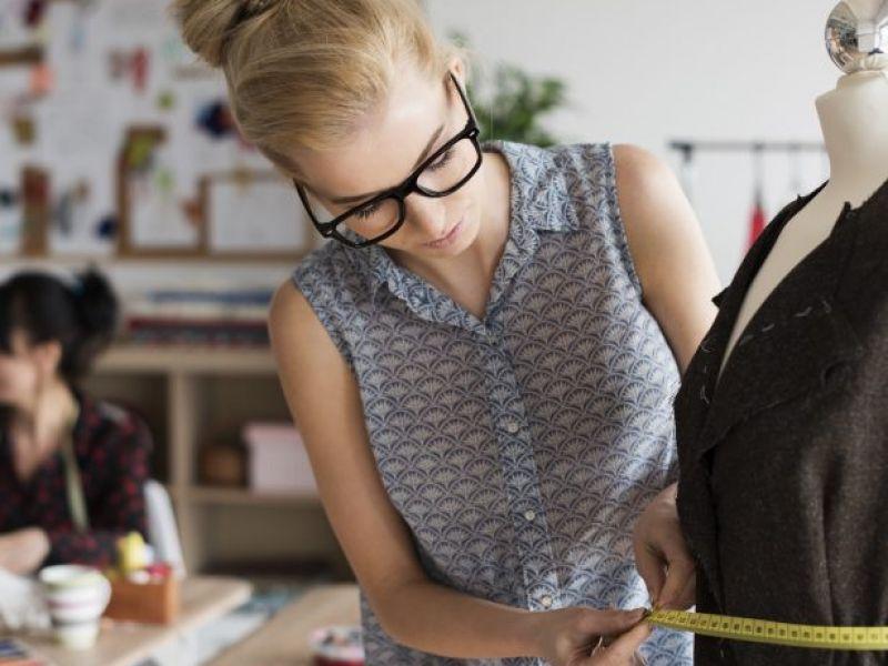 a woman getting measurements
