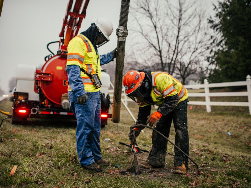 The main benefit of using a vacuum excavator is the minimum damage to existing and underground fixtures of pipework, cabling, and power or other lines.