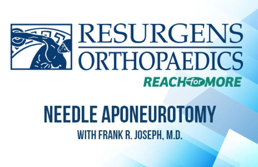 Preview image for Ask the Expert Video: Dr. Frank Joseph Explains: What is Needle Aponeurotomy?