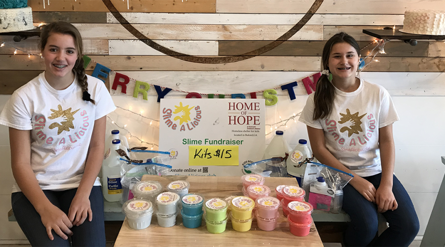Middle school students turn slime into a money-maker for local homeless shelter