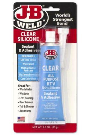 J-B Weld Clear Silicone Gasket Sealant 85g Tube