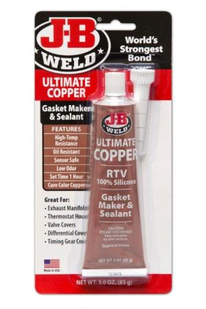 J-B Weld Copper Silicone Sealant 85g Tube
