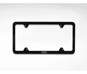 Slimeline License Plate Frame with Audi Rings