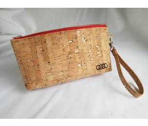Cork purse with monogramed Audi Rings