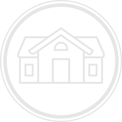 a close up of a house logo