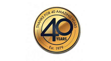 Logo for Thank You for 40 Years