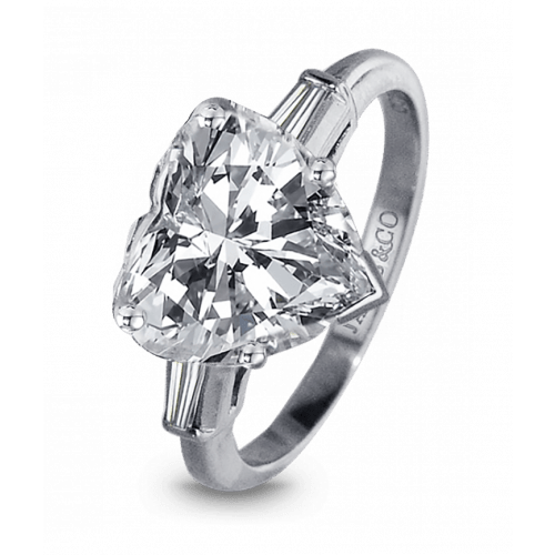 Heart-Shape Diamond Engagement Ring