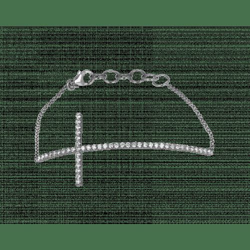 Diamond Cross Bracelet