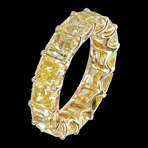 Yellow Diamond Eternity Band
