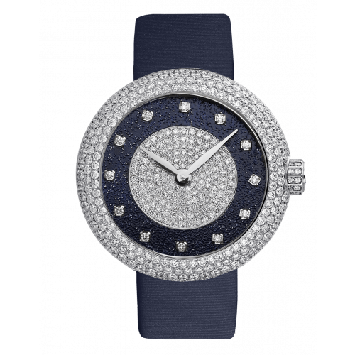 Brilliant Half Pavé Round White Diamonds