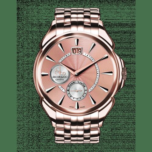 Palatial Classic Manual Big Date Rose Gold Bracelet -Rose Dial