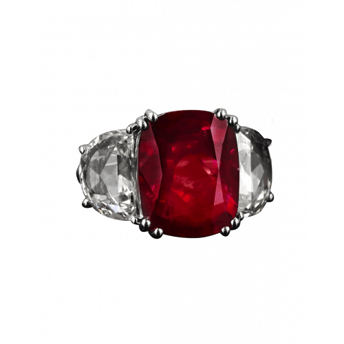 Natural Mozambique No Heat Ruby Ring