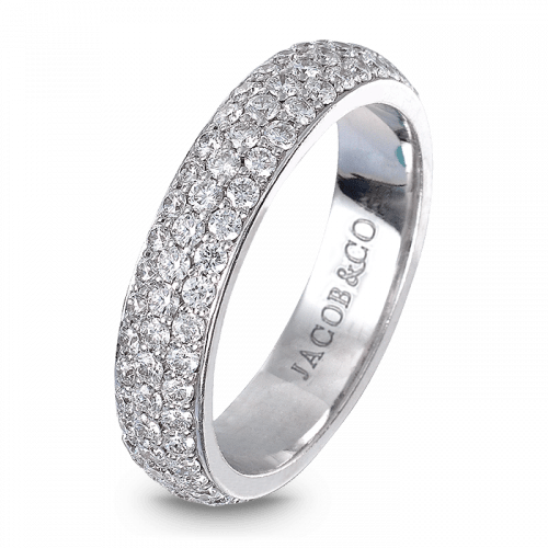 Melange White Gold Band