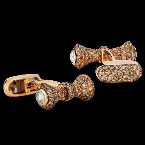 Rose Gold Barbell Design Cufflinks