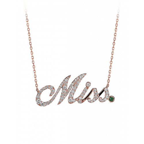 Rose Gold Miss Necklace