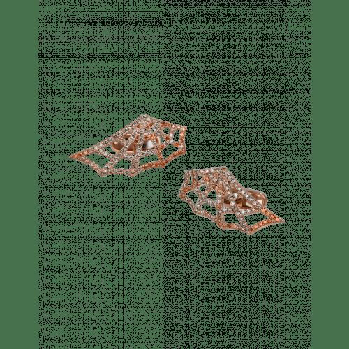 Jacob's Web Rose Gold Multi Color Pave Diamond Cufflinks