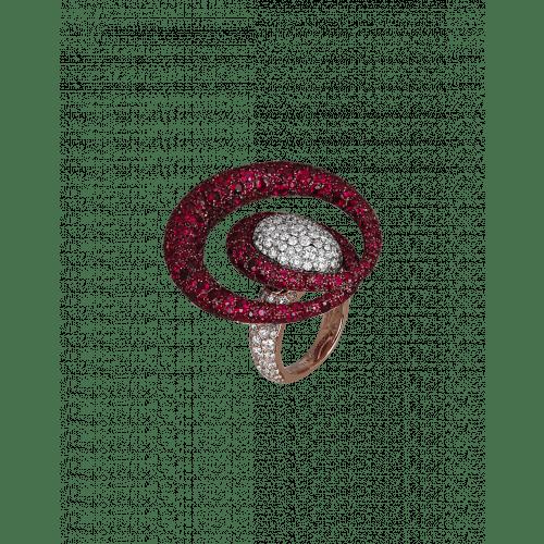 Titanium Glam Ruby Cocktail Ring
