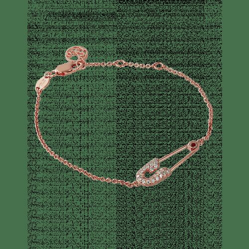 Rose Gold Safety Pin Bracelet