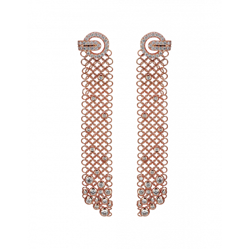 Rose Gold Rare Touch Earrings
