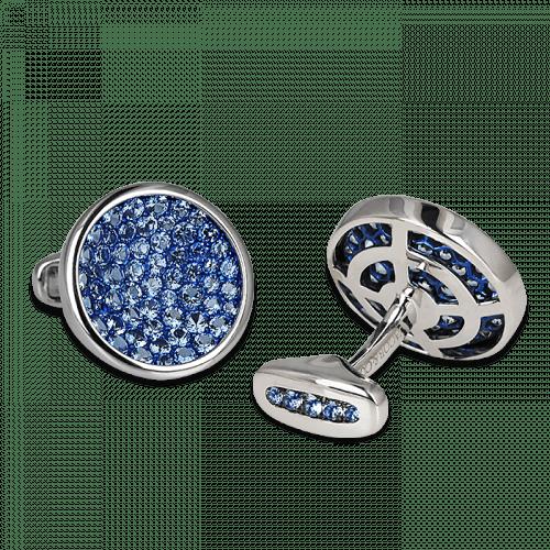 Circular Aquamarine Cufflinks