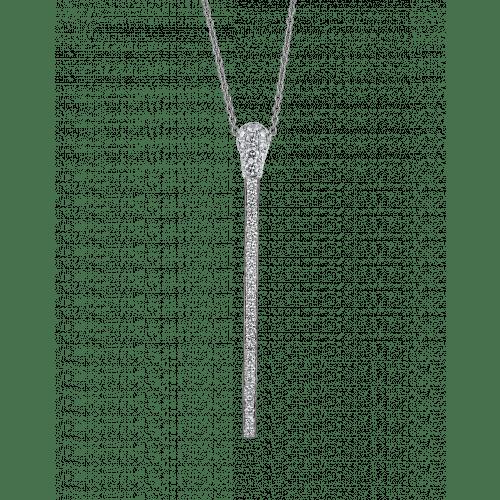 WHITE GOLD DIAMOND MATCH NECKLACE LONG
