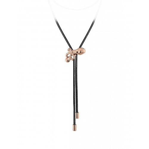 Zodiac Aquarius String Necklace Rose Gold