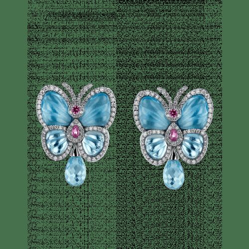 Blue Topaz Papillon Small Earrings