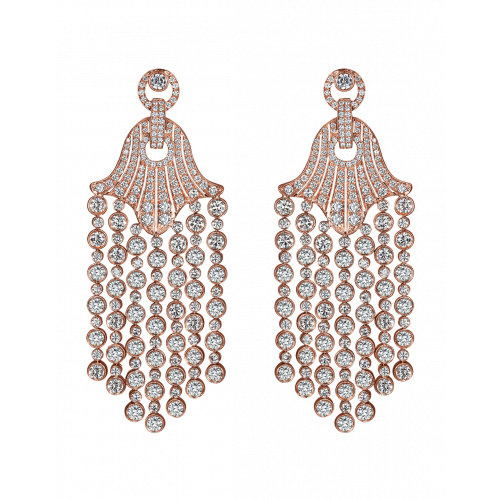 Rare Touch Rose Gold Chandelier Earrings