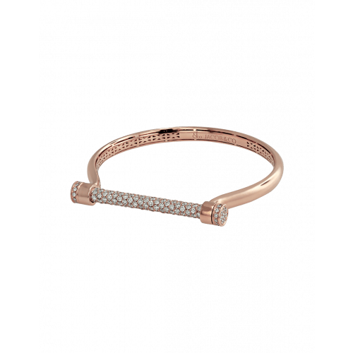 Estribo 3.60ct Half Pave Bangle