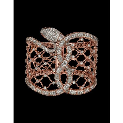 Cerastes Rose Gold Cuff Bracelet