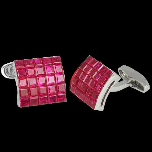 Ruby Square Cufflinks