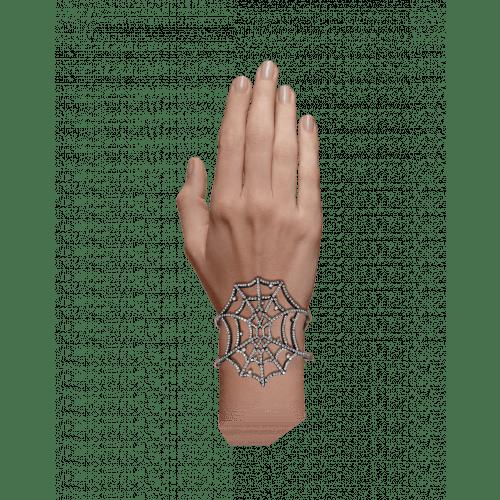 Jacob's Web Black Plated Arm Cuff
