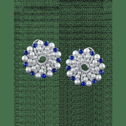 Infinia Pearl Blue Sapphires Earrings