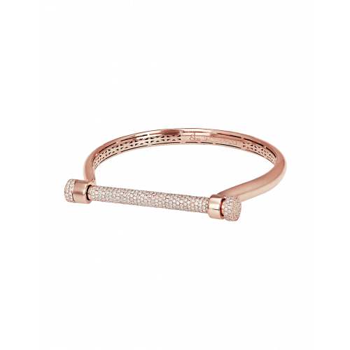 Half Pave (Top Bar) Estribo Bangle