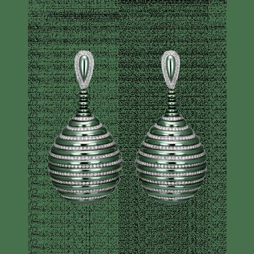 Titanium Glam 3D Drop Earrings