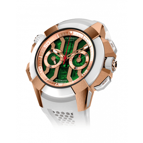 EPIC X CHRONO ROSE GOLD GREEN DIAL (SATIN-FINISHED)