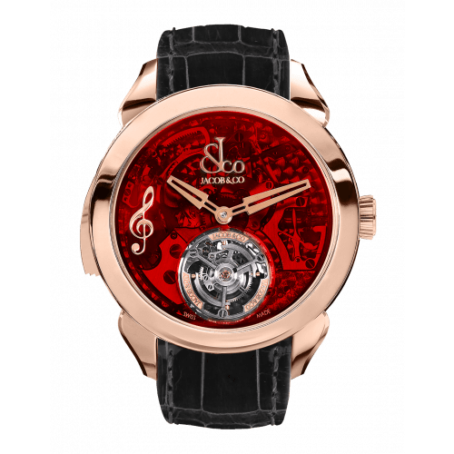 Palatial Flying Tourbillon Minute Repeater Rose Gold (Red Mineral Crystal)