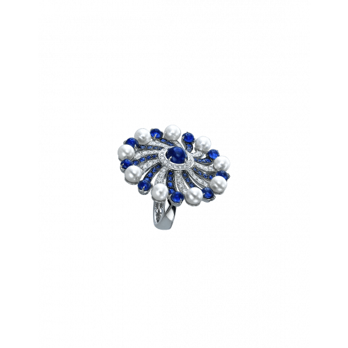 Infinia Pearl Blue Sapphires Ring
