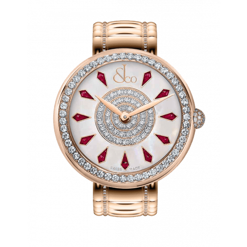 Brilliant One Row Rose Gold Couture Ruby 38mm