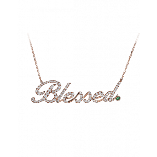 Rose Gold Blessed Necklace