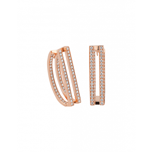 Nima's Classic Earrings Rose Gold Full Pave
