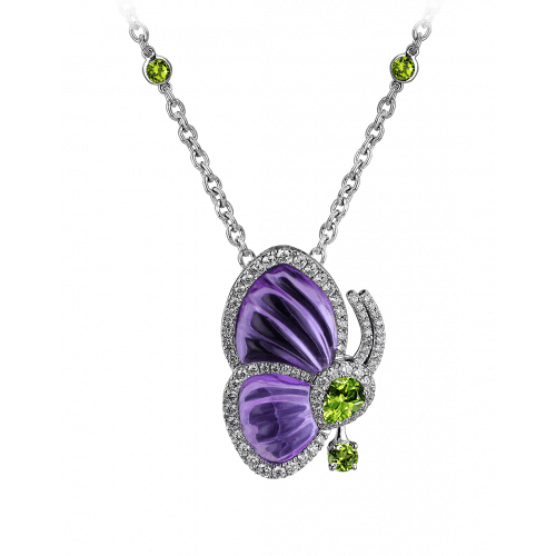 Amethyst Papillon Necklace