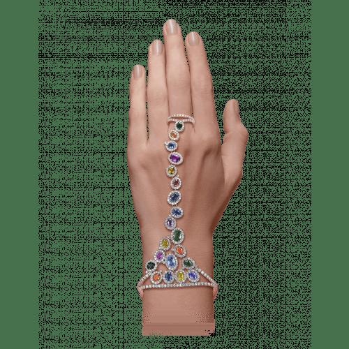 Rose Gold Multicolor Ring Bracelet