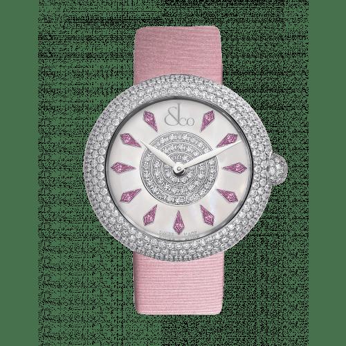 Brilliant Half Pave Pink Sapphires 38mm