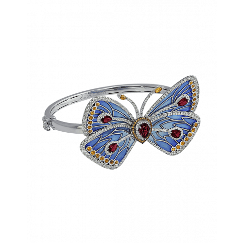 Blue Cathedral Papillon Bangle