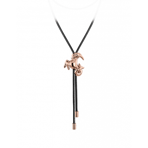 Zodiac Capricorn String Necklace Rose Gold