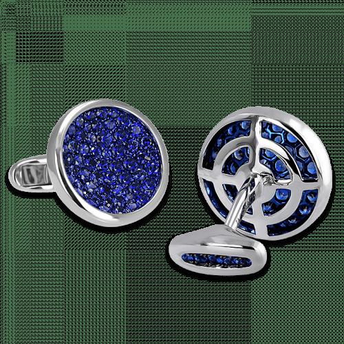 Circular Sapphire Cufflinks