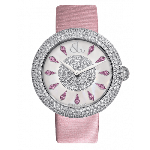 Brilliant Half Pave Pink Sapphires 44mm