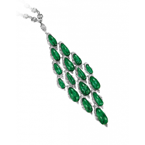 Colombian Emerald Briolette Necklace